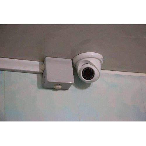 Установка IP наблюдения. Купольная камера Dahua