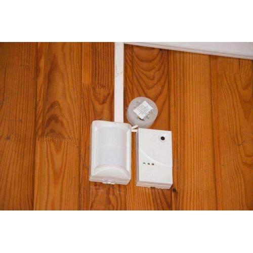 Установка охранной сигнализации, датчиков движения.