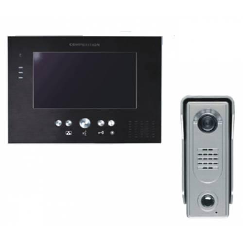 MT373C-CK silver + SAC5C Комплект домофон + вызывная панель
