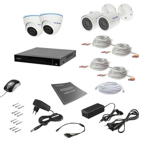 Комплект видеонаблюдения Tecsar AHD 4MIX 8MEGA