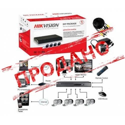 DS-J142I/7104HQHI-F1/N Комплект TurboHD видеонаблюдения Hikvision